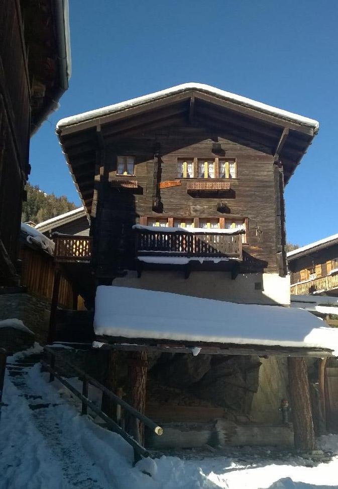 Chalet Le Roc Grimentz en hiver